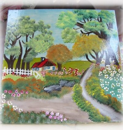 ציור על עץ - מכללת ורצברגר