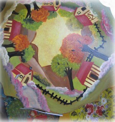 ציור וצריבה על עץ - מכללת ורצברגר